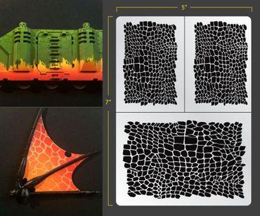 Reptile Skin Airbrush Stencil (Organik)