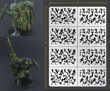 Infantry Traditional Camo Airbrush Stencil (Infantry Sized)