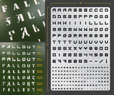 Sci-Fi Lettering Airbrush Stencil 3 (Lettering)