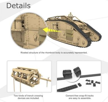 Meng British Heavy Tank Mk.V Female 1/35 – Bild 5
