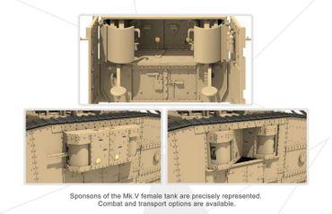Meng British Heavy Tank Mk.V Female 1/35 – Bild 3