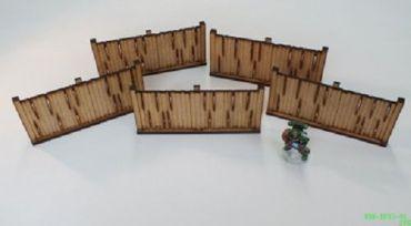 5 Zaunelemente – Holzplanken – Bild 1