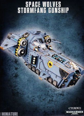 Stormfang Gunship / Stormwolf Assault Craft der Space Wolves