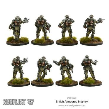 Konflikt 47 British Armoured Infantry Section 28mm – Bild 3