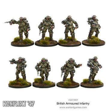 Konflikt 47 British Armoured Infantry Section 28mm – Bild 2