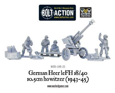 German Heer LeFH 18/40 10.5cm Howitzer (1943-45) 28mm – Bild 1