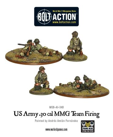 US Army 30 Cal MMG Team Firing 28mm