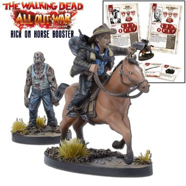The Walking Dead Rick on Horse Booster (Englisch) All Out War – Bild 1