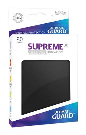 Supreme UX Sleeves Standard Black 80 – Bild 1