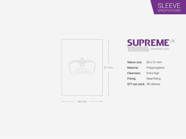 Supreme UX Sleeves Standard Frosted 80 – Bild 2