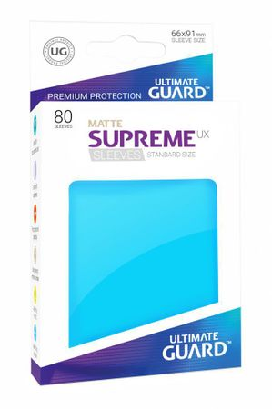 Supreme UX Sleeves Standard Matte Light Blue 80 – Bild 1