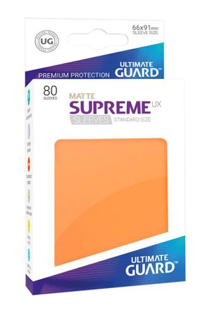 Supreme UX Sleeves Standard Matte Orange 80 – Bild 1