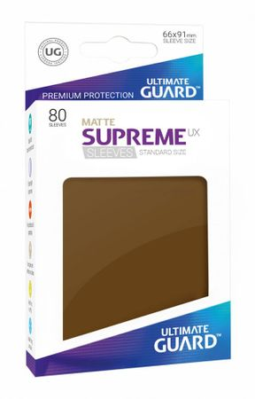 Supreme UX Sleeves Standard Matte Brown 80 – Bild 1