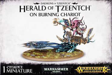 Tzeentch Herald on Burning Chariot