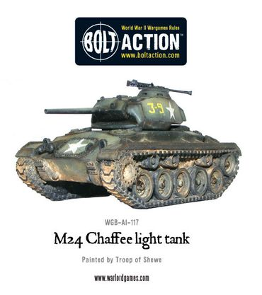 M24 Chaffee US Light Tank 28mm – Bild 2