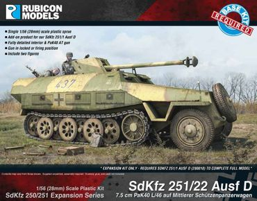 SdKfz 250/251 Expansion Set for SdKfz 251/22 Ausf D 1/56 (28mm) – Bild 1