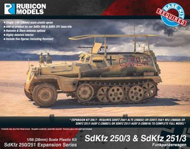 SdKfz 250/251 Expansion Set for SdKfz 250/3 and 251/3 1/56 (28mm) – Bild 1