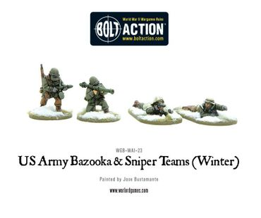 US Army Bazooka and Sniper Teams Winter 28mm – Bild 1