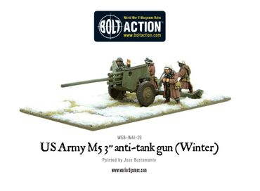 US Army 3 Inch Anti Tank Gun M5 Winter 28mm – Bild 1