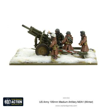 US Army 105mm Medium Artillery M2A1 Winter 28mm – Bild 2