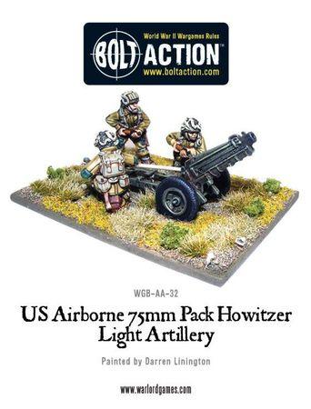 US Airborne 75mm Howitzer and Crew 28mm – Bild 1