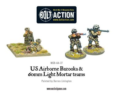 US Airborne Bazooka and 60mm Light Mortar Team 28mm – Bild 1