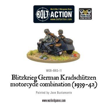 Blitzkreig German Kradschutzen Motorcycle Combination 28mm – Bild 2