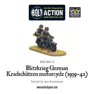 Blitzkrieg German Kradschützen Motorcycle 28mm