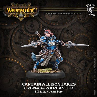 Cygnar Captain Allison Jakes Warcaster