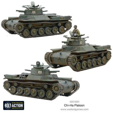 Chi-Ha Platoon Japanese Medium Tanks 28mm – Bild 2