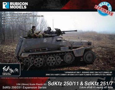 SdKfz 250/251 Expansion Set for SdKfz 250/11 and 251/7 1/56 (28mm) – Bild 1