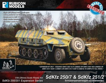 SdKfz 250/251 Expansion Set for SdKfz 250/7 and 251/2 1/56 (28mm) – Bild 1