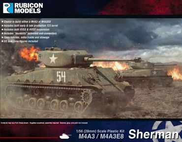 M4A3 / M4A3E8 Sherman 1/56 (28mm)