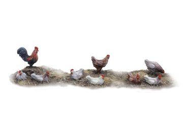 Hühner und Hahn Set 2 (9)