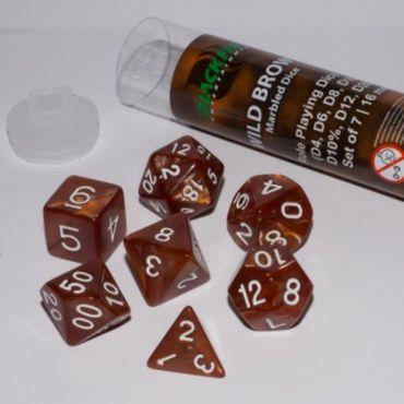 Blackfire Rollenspiel Würfel 16mm Wild Brown (7)