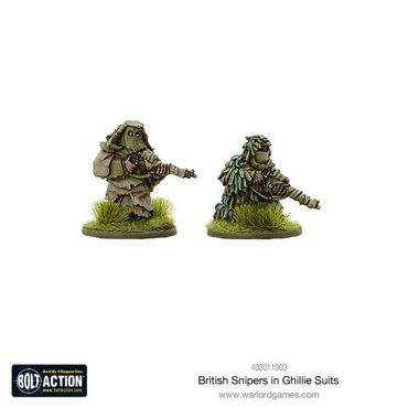 British Snipers in Ghillie Suits 28mm