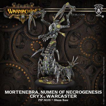 Cryx Mortenebra, Numen of Necrogenesis Warcaster