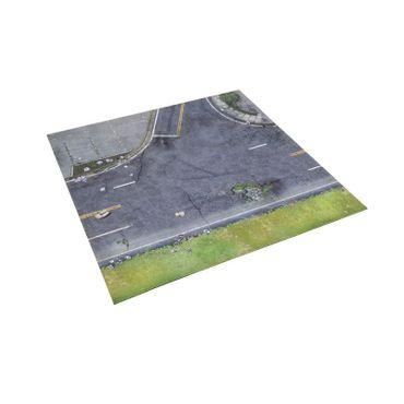 The Walking Dead Atlanta Suburbs Deluxe Gaming Mat All Out War