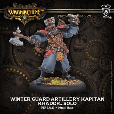 Khador Winter Guard Artillery Kapitan Solo