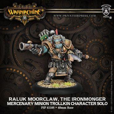 Mercenaries Raluk Moorclaw The Ironmonger Trollkin Character Solo