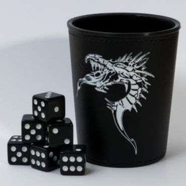 Blackfire Dice Cup with Dragon Emblem Black (6)