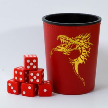Blackfire Dice Cup with Dragon Emblem Red (6)