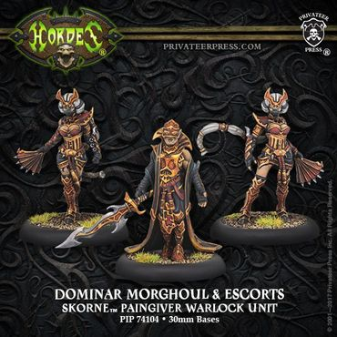 Skorne Dominar Morghoul und Escorts Paingiver Warlock Unit