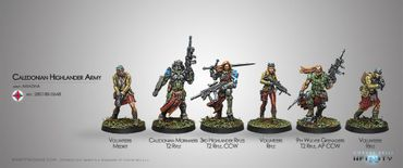 Ariadna Caledonian Highlander Army Sectorial Starter Pack