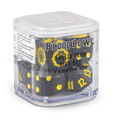 Blood Bowl Goblin Team Dice Set (7)
