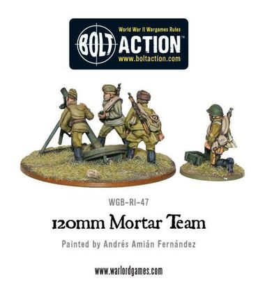 Soviet Army 120mm Heavy Mortar Team 28mm – Bild 2