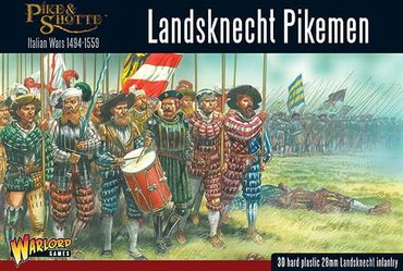 Pike & Shotte Landsknecht Pikemen 28mm