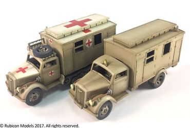 SdKfz 305/3a Expansion Set for SdKfz 305 Blitz and 3a Maultier Box Body 1/56 (28mm) – Bild 1