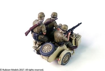 German Motorcycle R75 with Sidecar (DAK) 1/56 (28mm) – Bild 4