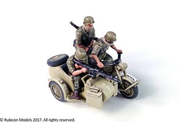 German Motorcycle R75 with Sidecar (DAK) 1/56 (28mm) – Bild 2